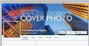 how to create a seamless facebook cover photo and profile picture design free template