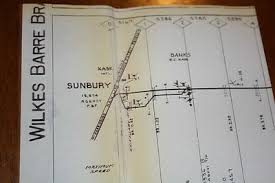 Prr Track Charts Pennsylvania Railroad Track Chart Map Wilkes Barre Branch
