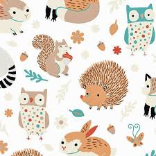 132 best fabric images on Pinterest | Wall fabric, Bedroom ... & Critter Patch Organic Cotton Fabric by Designer Alyssa Thomas Penguin and  Fish Cute Woodland Animals Owls Adamdwight.com