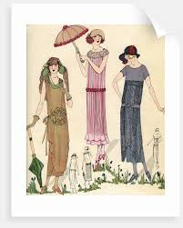 1920s Fashion Illustration Of Women In 1920s Fashion