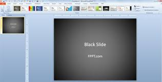 Retrospect Theme Powerpoint 2010 How To Change Powerpoint Presentation To Use Black Slide
