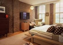 Get Creative With The Brick Wall In Your Bedroom And Think Beyond The Usual  Decorating Styles And Décor Pieces To Get The Job Done.