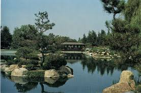 japanese garden at the donald c tillman water reclamation plant in van nuys postcard
