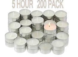5 Hour Tea Light Candles Candlenscent 5 Hour Tealight Candles 200 Tea Lights Candles Bulk White Unscented Candles Long Burning Tea Lights Poured Wax Made In Usa