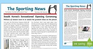 news article format ks2 winter olympics 2018 wagoll example newspaper report within