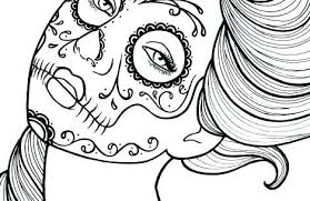 Day Of The Dead Coloring Pages For Day Of The Dead Coloring Pages