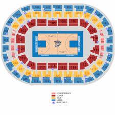 Chesapeake Seating Chart Thunder Chesapeake Energy Arena Insidearenas Com