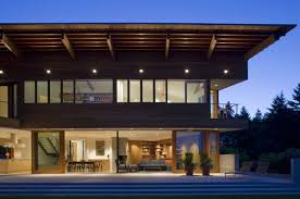 view modern house lights. Modern Houses Seattle Lighting View House Lights
