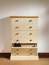 Hampton cream painted pine furniture large shoe storage cabinet rack