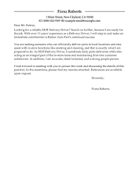 Driver Cover Letters Best Hub Delivery Driver Cover Letter Examples Livecareer