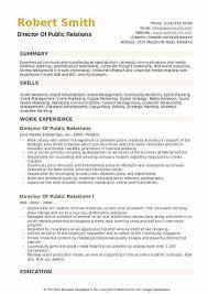 Public Relations Resume Sample Topgamers Xyz