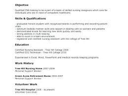 Cna Skills For Resume Resume Letters How To Write Cna Resume Skills