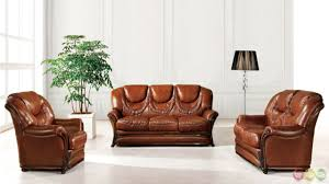 brown genuine italian leather sofa