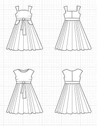 Free Sewing Patterns Online Gorgeous TRINIDAD DRESS TECHNICAL DRAWING On The Cutting Floor Printable