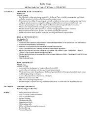 Grinder Sample Resumes Tool Technician Resume Samples Velvet Jobs 9