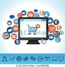Online Clipart Computer Online Shop Clipart