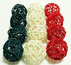 Decorative Balls For Bowl Interesting Amazon Christmas Gifts Small White Dark Green Red Rattan