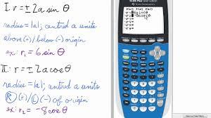 polar equations graphs of circles ti 84 calculator
