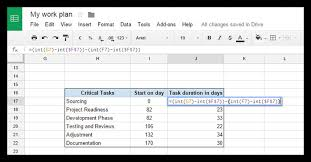 Gantt Chart Using Google Sheets How To Make A Gantt Chart In Google Docs Free Template