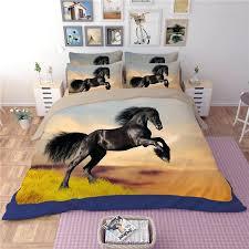 horse bedding sets black horse bedding sets with horses print bed sheet duvet cover bedspreads linen