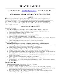 corporate law paralegal resume