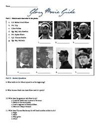 a character us history and the characters on pinterest glory film guide worksheet amp essay