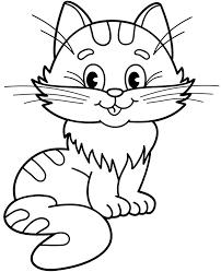 Rysowanki online łatwe i trudne dla dzieci. Kot Kolorowanka Do Pobrania Malowanka Z Kotkiem