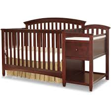 baby bedroom the imagio montville four in one fixed side crib changing table combo pad