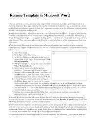 Resume Templates Word Vnzgames
