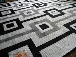 Black And White Quilt Patterns Magnificent Black And White Quilt Patterns Minimalist Baby Quilt Black And