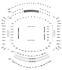 Alabama Seating Chart Bryant Denny Georgia Bulldogs At Alabama Crimson Tide Football Tickets