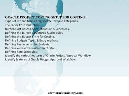 Oracle Project Accounting Oracle Project Accounting Training