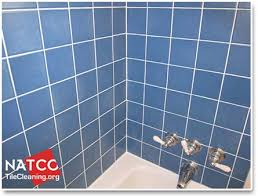 tile shower with new white grout