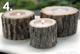 tree stump with candles
