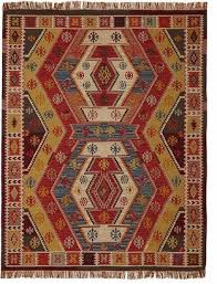 pottery barn gianna recycled yarn kilim indoor outdoor rug warm multi