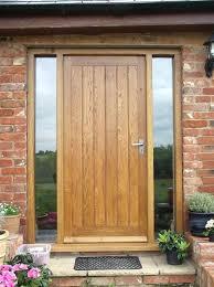 oak front door solid oak front door with side door wooden front door with glass