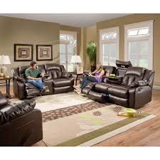 simmons lucky espresso reclining console loveseat. simmons upholstery sebring bonded leather double motion sofa | hayneedle lucky espresso reclining console loveseat i
