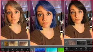 hair color simulator app changing of