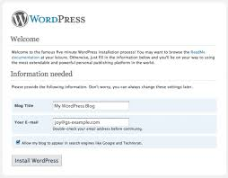 How do I install WordPress using the 1-Click Applications tool ...