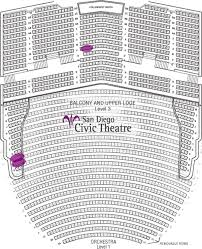 San Diego Civic Theatre Interactive Seating Chart Credible Civic Theater San Diego Seating San Diego Civic