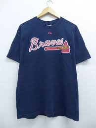 Summer Clothes Short Sleeves T Shirt In The Spring And Summer Old Clothes Majestic Mlb Atlanta Braves Brian Mccann 16 Dark Blue Navy Large Size Men
