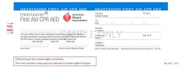 bunch ideas of red cross cpr card template in best aha cpr card template contemporary exle resume ideas