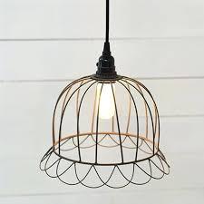 wire cage pendant light dome geometric diamond