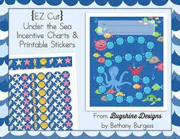 Class Incentive Chart Printable Ez Cut Incentive Chart Printables Under The Sea