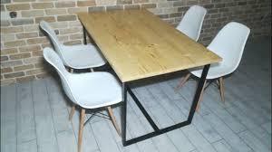 Как сделать стол из половой доски и металлического <b>профиля</b> ...