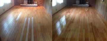 hardwood floor repair before and after shown