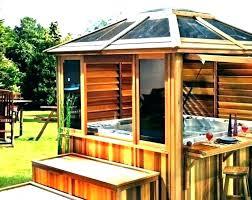 hot tub gazebo kits enclosed plans enclosure designs outdoor canopies and hardtop surrounds ideas diy hot tub privacy screen enclosure
