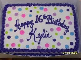 Sweet 16 Sheet Cakes Birthday Cake Ideas Alexandraames