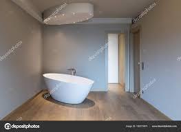 Moderne Schlafzimmer Mit Badewanne Luxus Wohnung Stockfoto