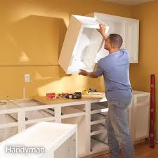 Average Cost To Replace Kitchen Cabinets Enchanting How To Install Kitchen Cabinets The Family Handyman